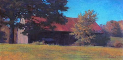 Bright Autumn<br /><small>pastel     17 x 34     $2900</small>