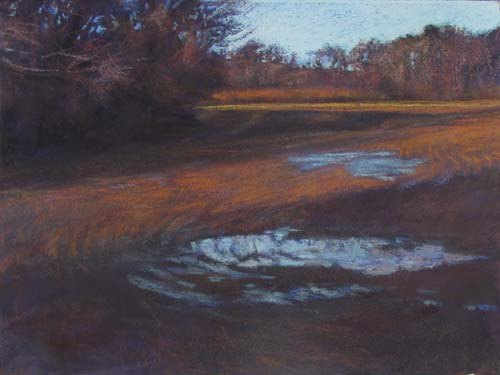 At the Turning Point<br /><small>pastel     11 x 15      $850</small>