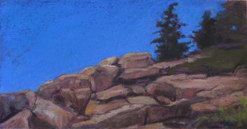 Acadia Blue<br /><small>pastel     5 x 10      sold</small>