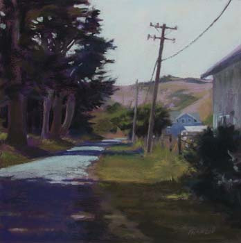 Connected, California<br /><small>pastel     17 x 17     sold</small>