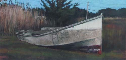 Free Boat<br /><small>pastel     17 x 34      $2900</small>