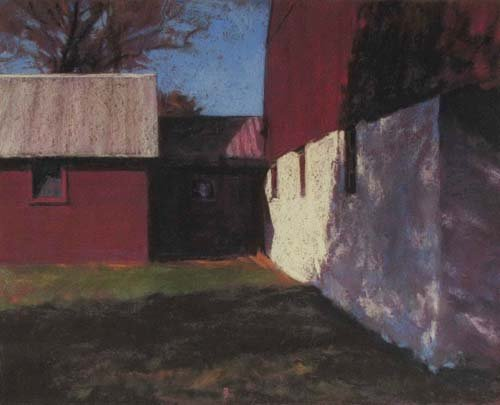 Barn Shadows<br /><small>pastel     16 x 20      sold</small>