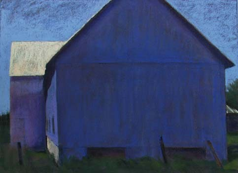 Big Blue Barn<br /><small>pastel     21 x 29      sold</small>