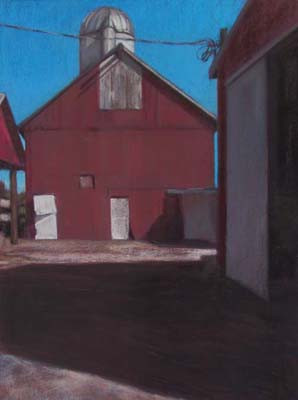 Red Cathedral<br /><small>pastel     30 x 22      $2900</small>