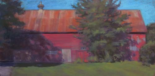 Summer Shadow<br /><small>pastel     17 x 34     $2900</small>